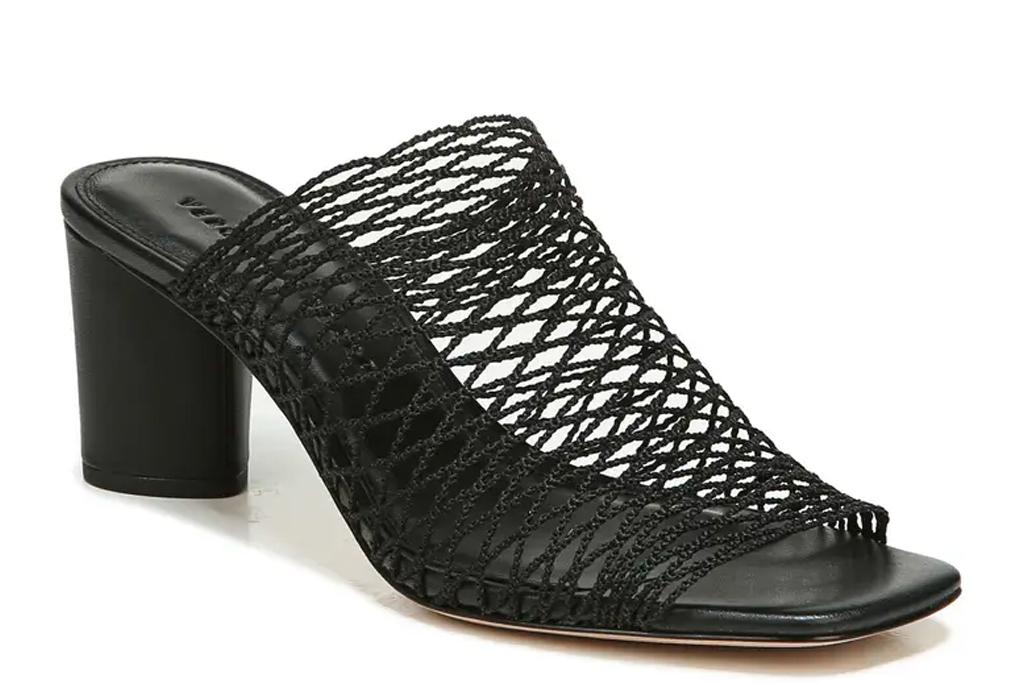 fishnet heels, black, mesh, veronica beard