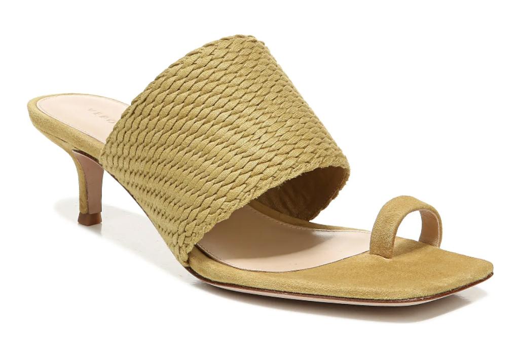 big toe, sandals, heels, veronica beard
