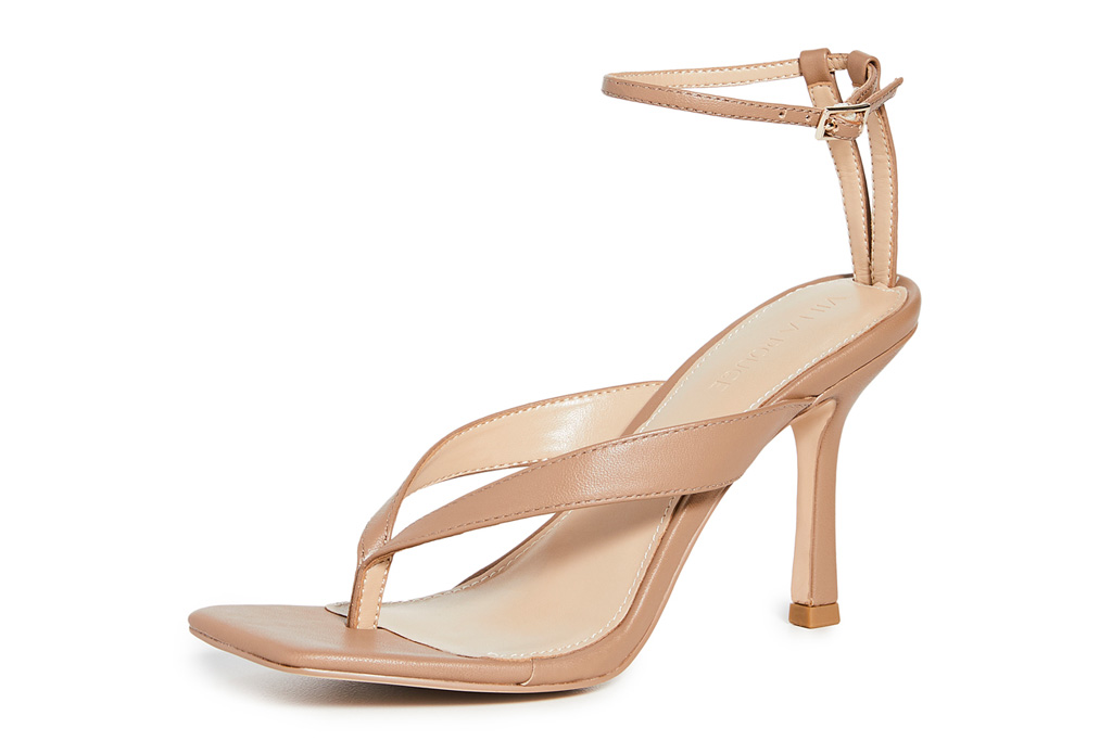 thong sandals, heels, villa rouge