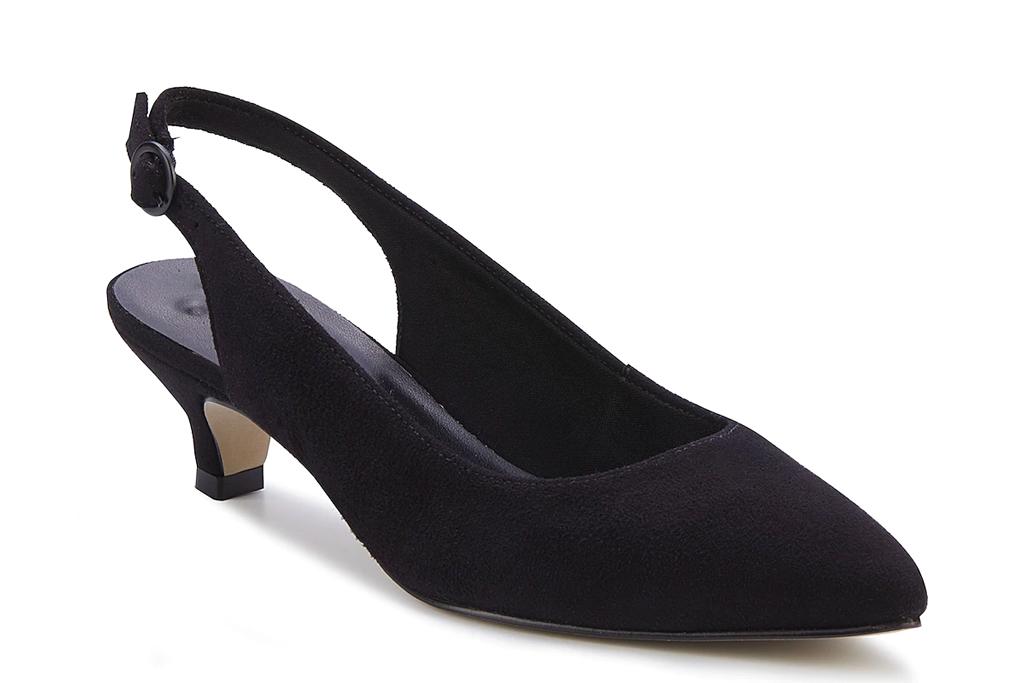 black heels, slingback, walking cradles