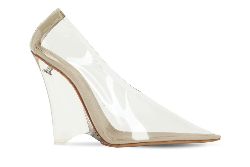 wedge heels, pvc, clear, yeezy