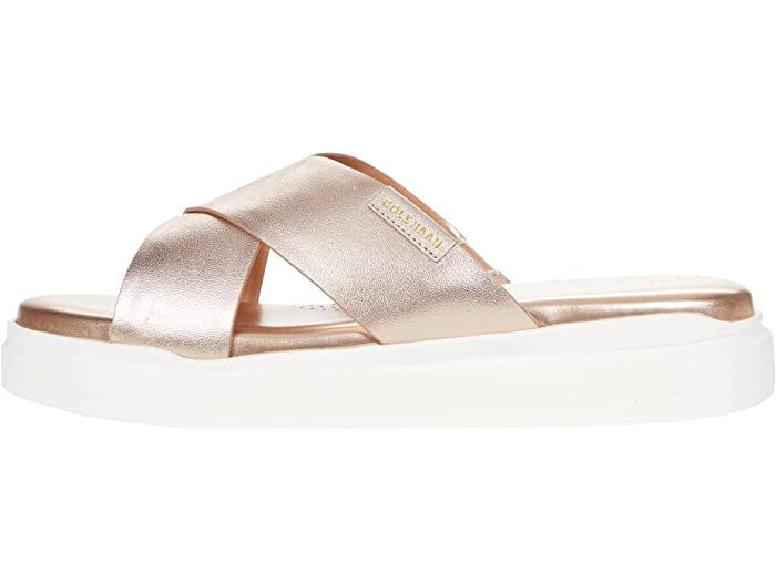 Cole Haan, sandals, grandpro rally, mettalic, rose gold