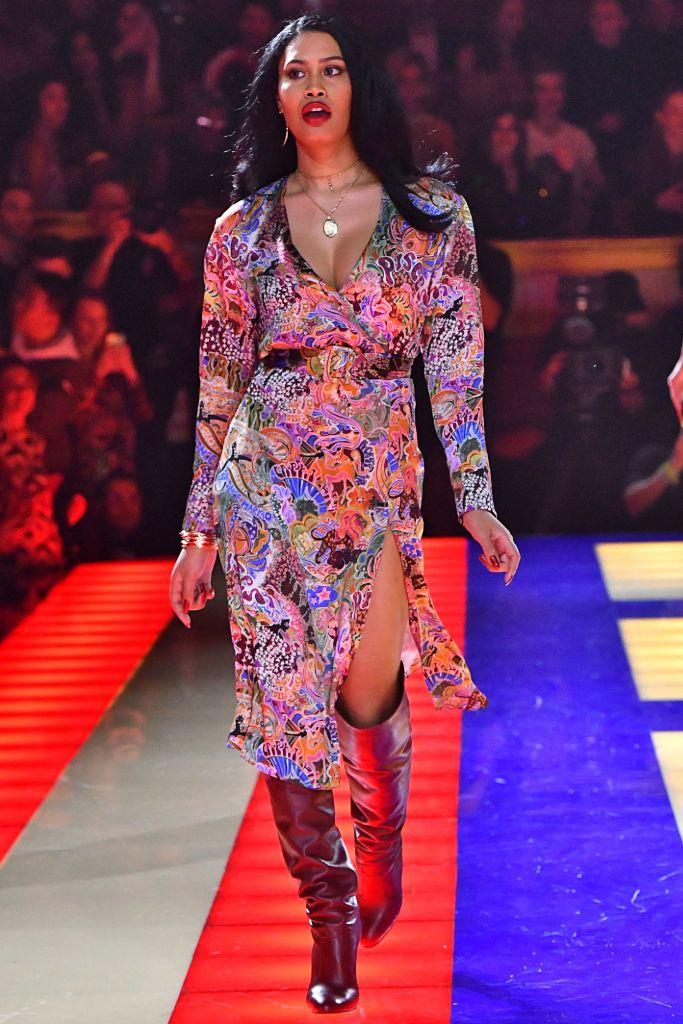 leyna bloom, tommy hilfiger, zendaya, tommy zendaya, paris fashion week, leyna bloom model