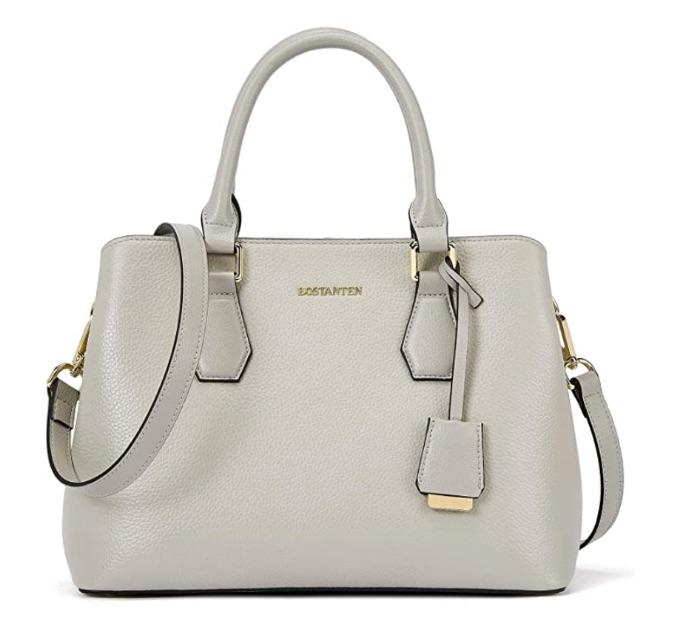 Bostanten Women Leather Handbag Designer Top Handle Satchel, best Amazon Prime Day handbag deals