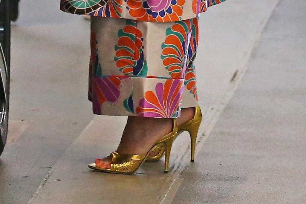 Chrissy Teigen, sandals