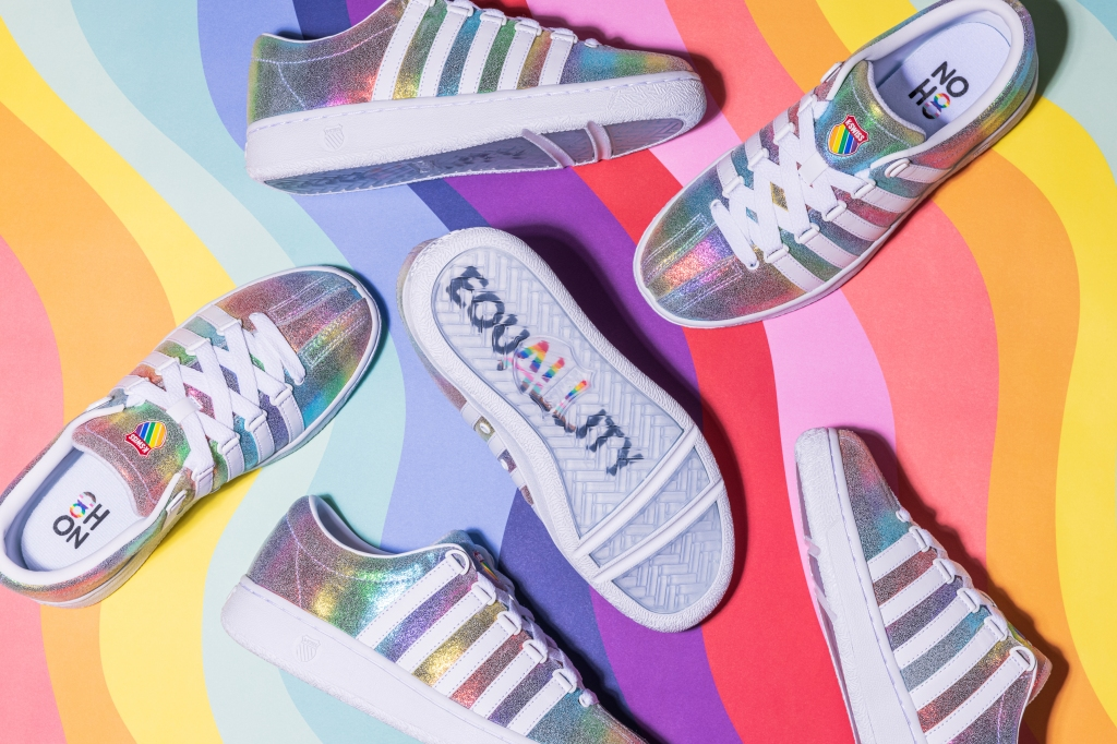 kswiss, classic lx, pride sneakers, lgbtq, rainbow, iridescent, noh8