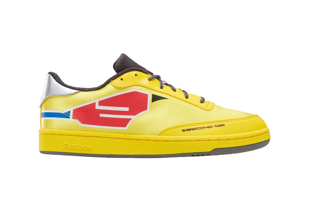reebok power rangers club c yellow