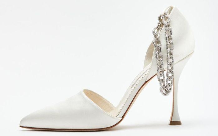 danielle frankel, danielle frankel manolo blahnik, manolo blahnik, bridal, bridal shoes, bridal fashion, wedding dresses, bridal designer, danielle frankel bridal