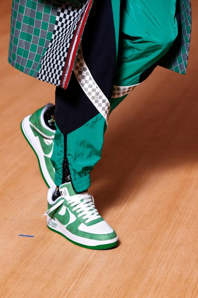 Louis Vuitton, Nike, air force 1 sneakers, spring 2022, fashion show, virgil abloh