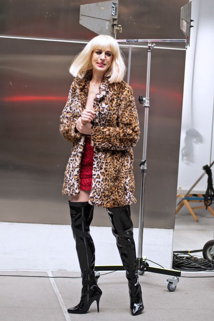 Anne Hathaway, over-the-knee boots