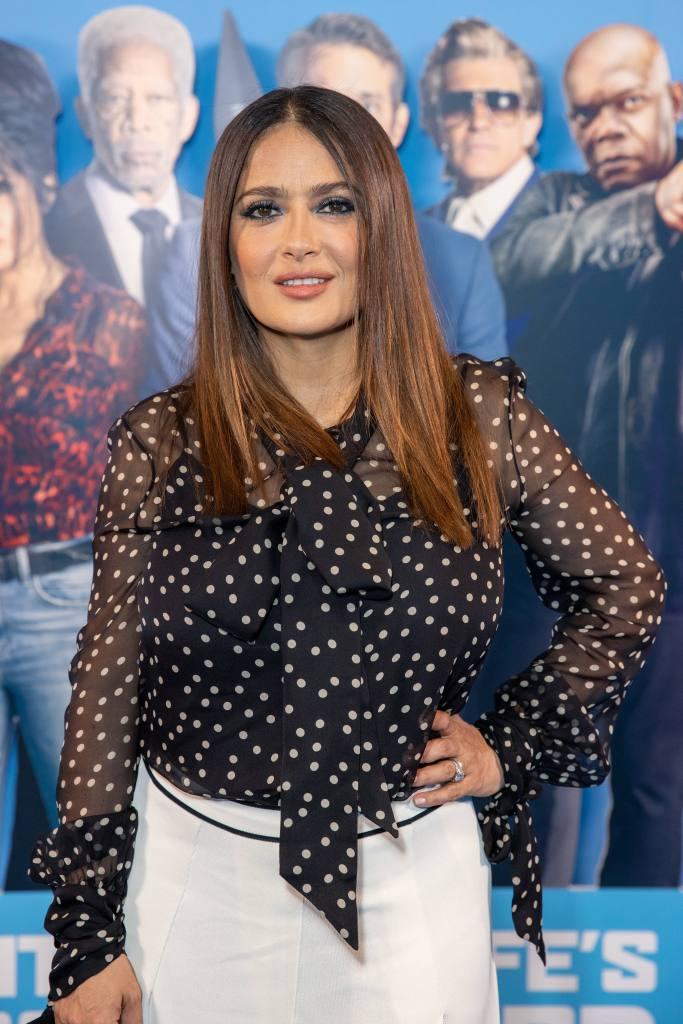 Salma Hayek, platform sandals