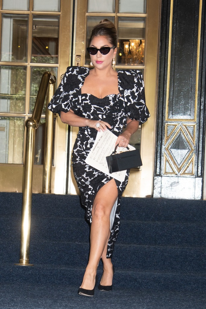 Giuseppe di Morabito dress, Lady Gaga Sighting in NYC Midtown, NY. 30 Jun 2021 Pictured: Lady Gaga. Photo credit: RCF / MEGA TheMegaAgency.com +1 888 505 6342 (Mega Agency TagID: MEGA766435_009.jpg) [Photo via Mega Agency]