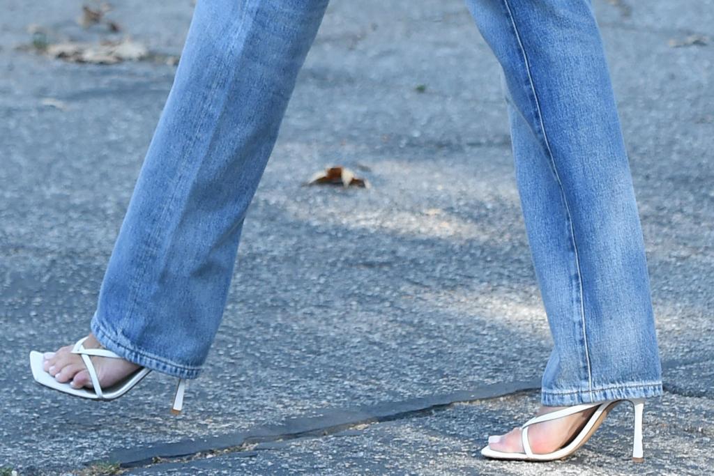 Olivia Culpo, sandals.