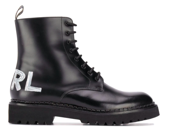 Karl Lagerfeld, boots combat boots