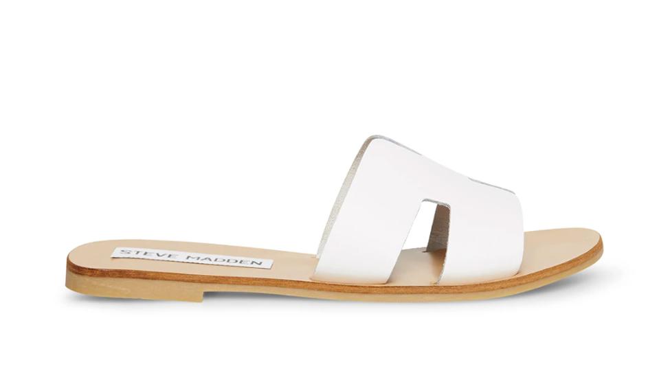 Steve Madden, slide sandals.
