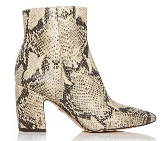 Sam Edelman, boots, snakeskin boots