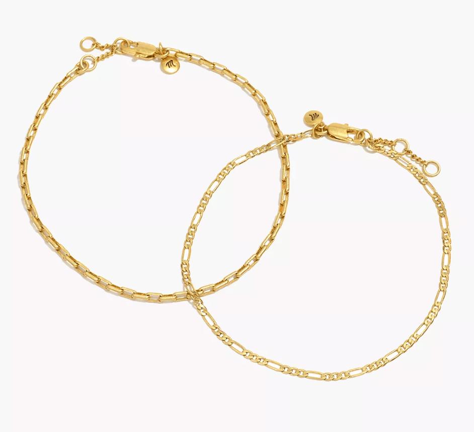 anklet, gold