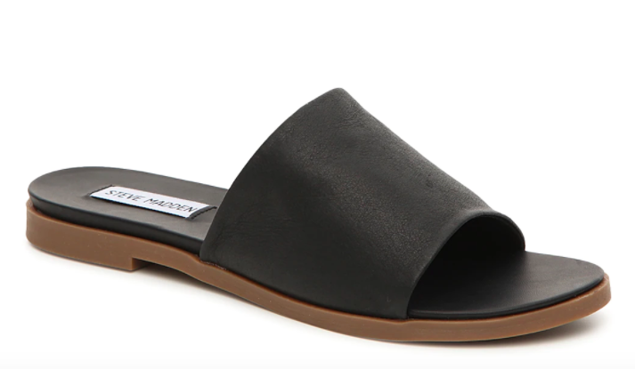 Gal Gadot, Steve Madden Karolyn sandals, slides