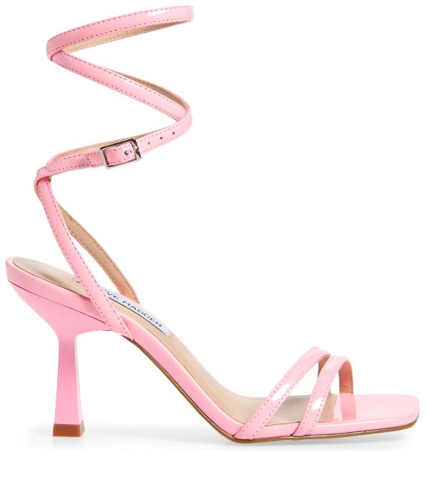 Steve Madden, sandals, pink, ankle wrap