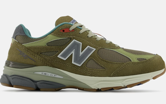The outsole of the Bodega x New Balance 990v3 Anniversary collab;