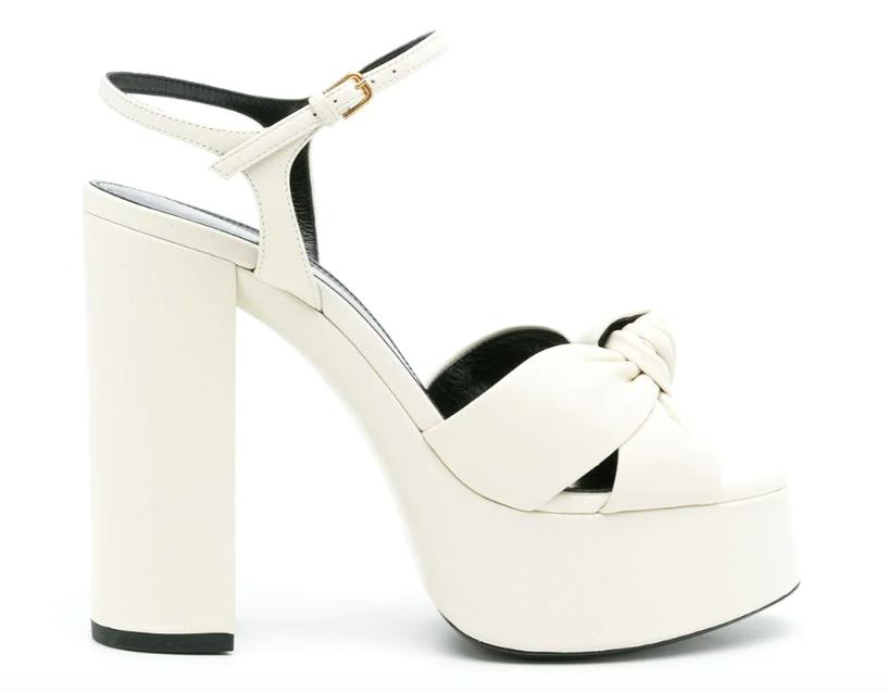 Saint Laurent, bianca sandals