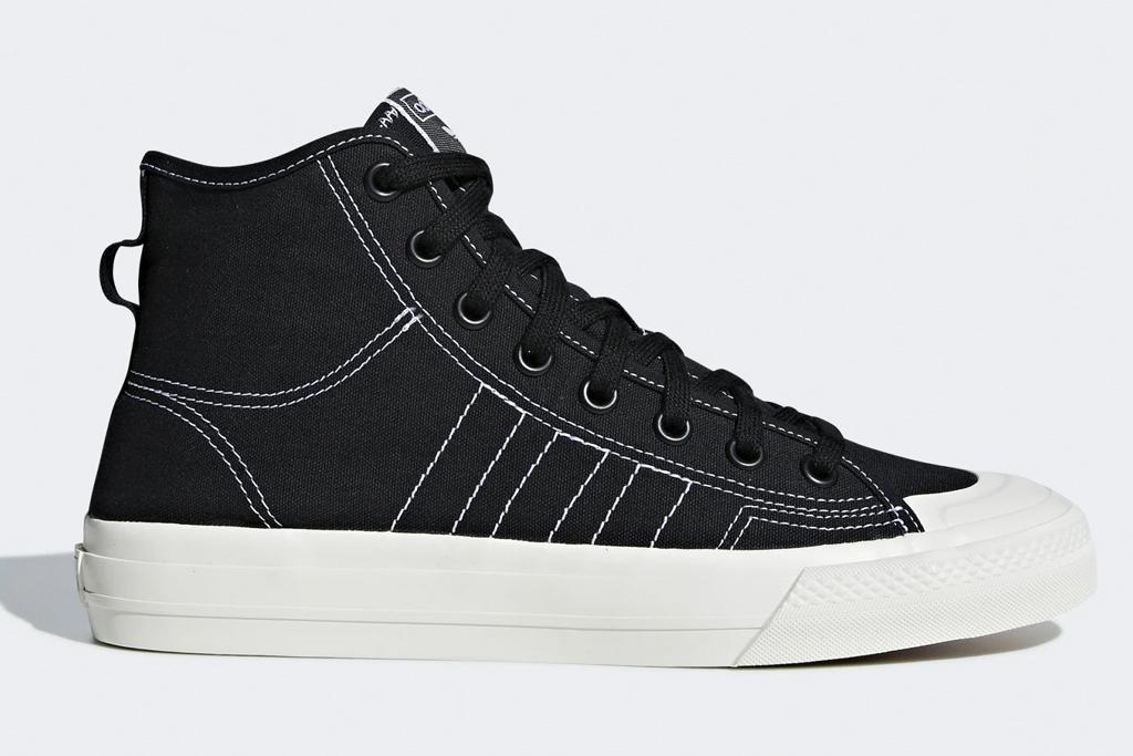 black sneakers, skate shoes, adidas