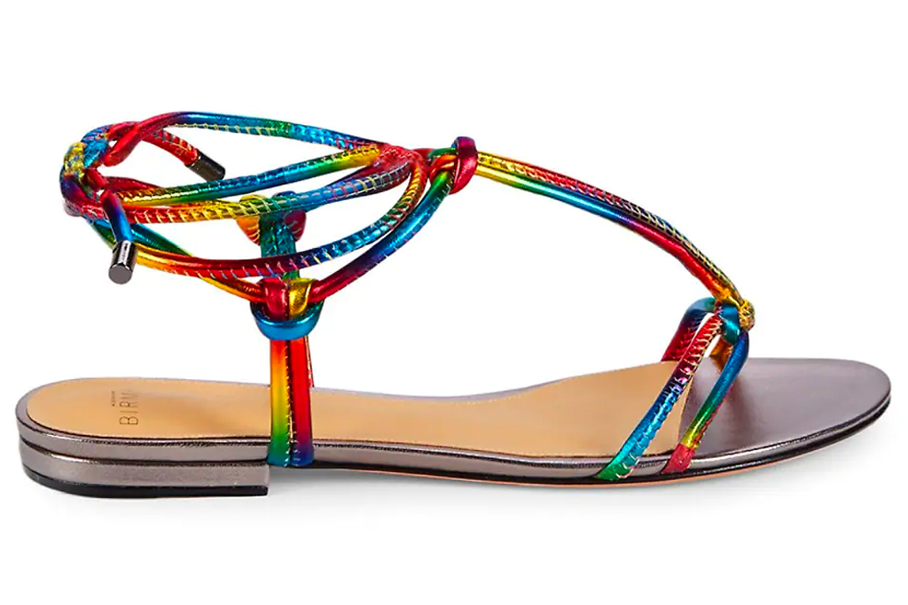 rainbow sandals, flats