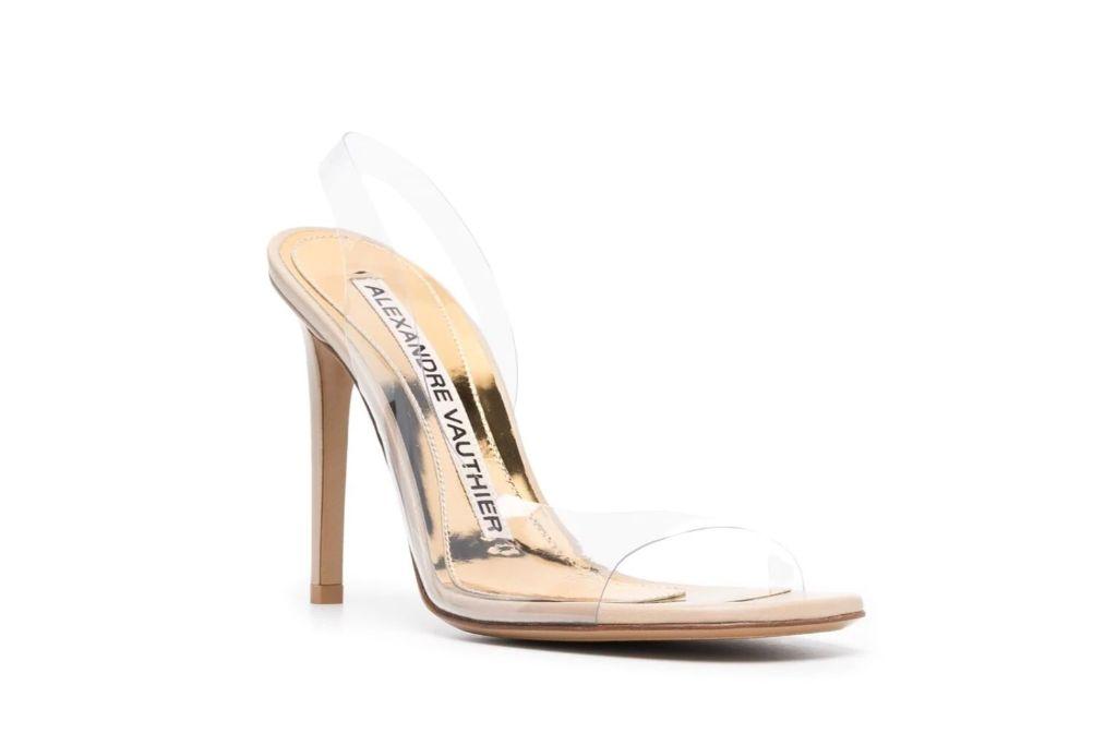alexandre vauthier, clear sandals, pvc sandals