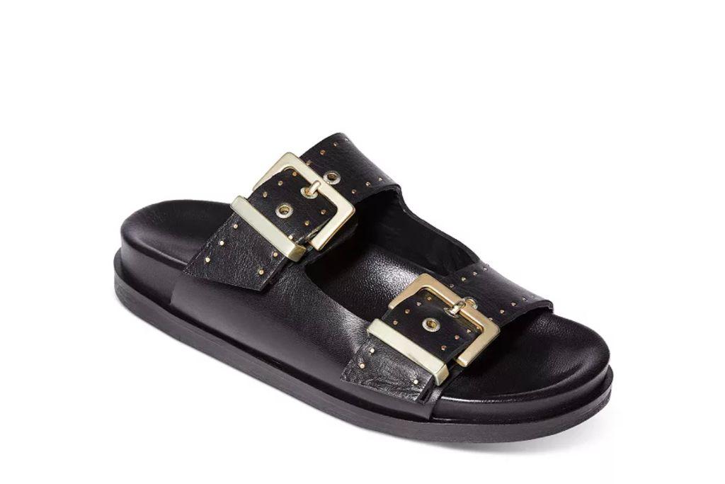 all saints, black sandals, ugly sandal trend