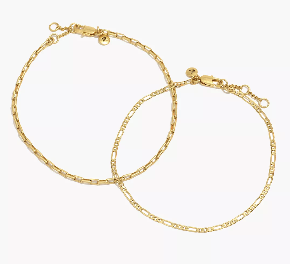 anklet, gold, chain