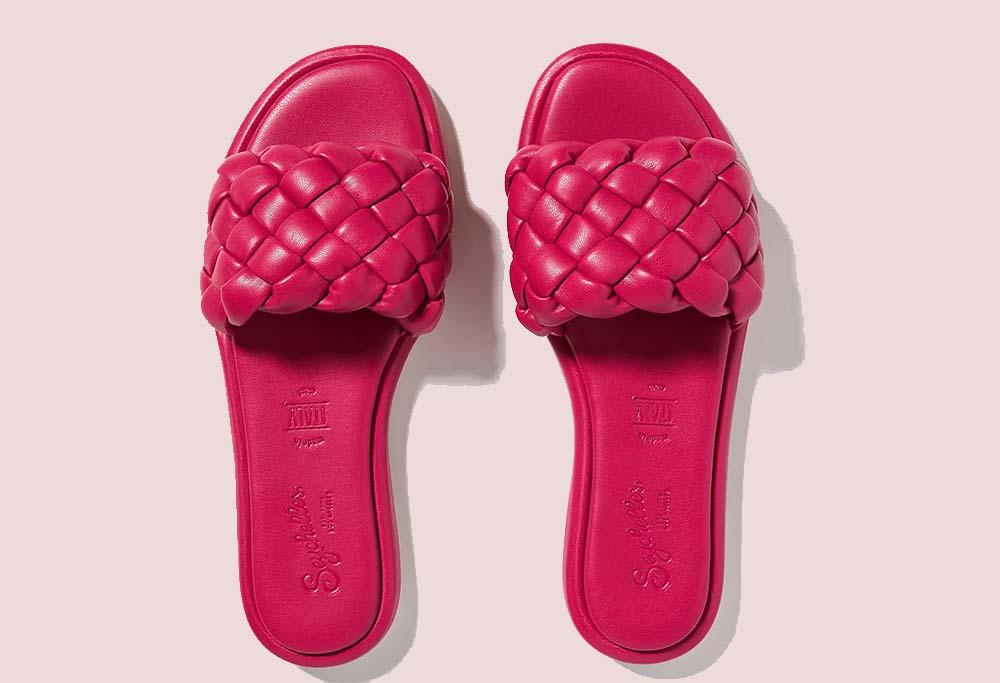 Seychelles Belissima Puffy Woven Slide Sandals