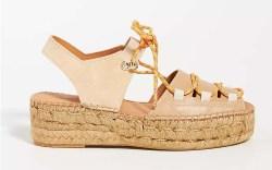 Naguisa Lace-Up Espadrille Sandals