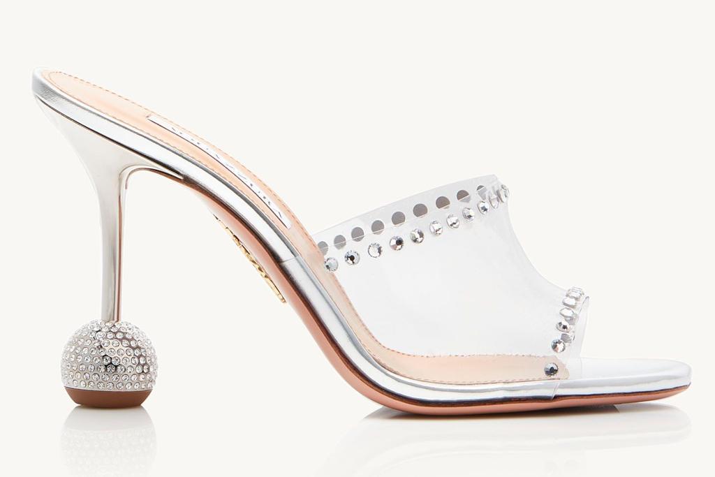 aquazzura, heels, disco, mules