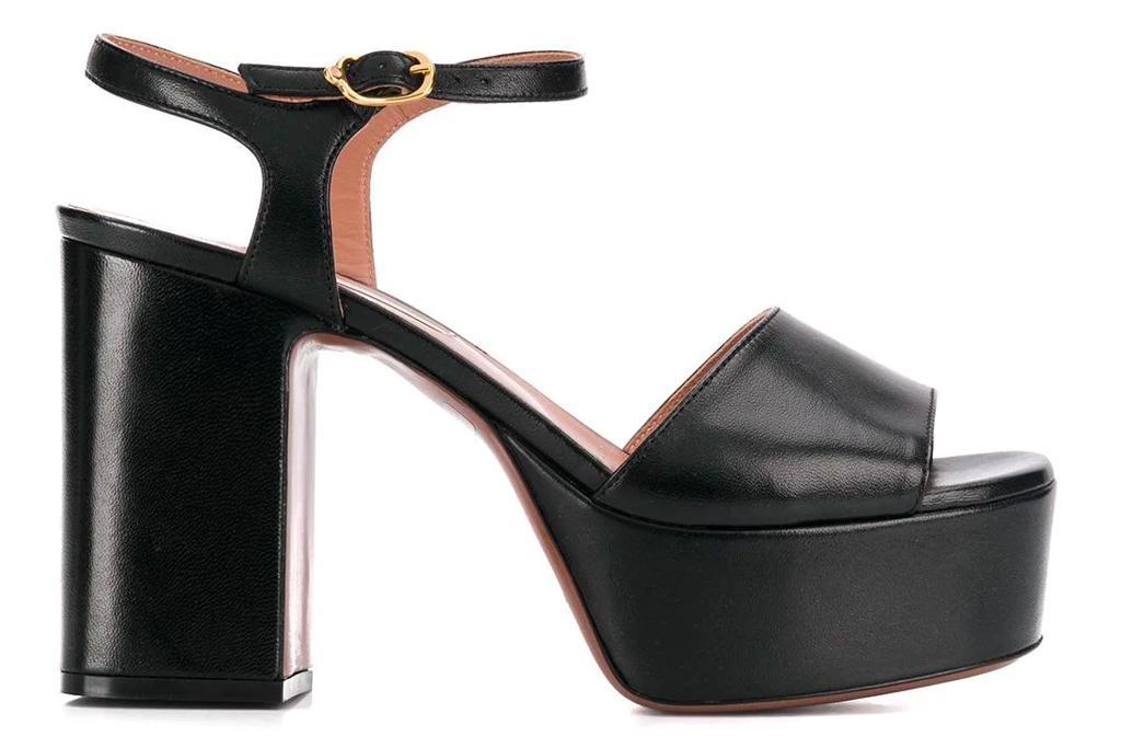 black sandals, platforms, autre chose