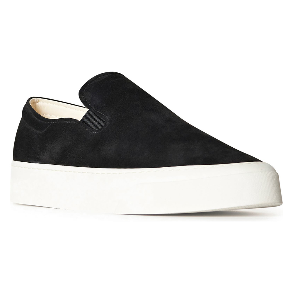 The Row Marie H Suede Slip-On Sneaker