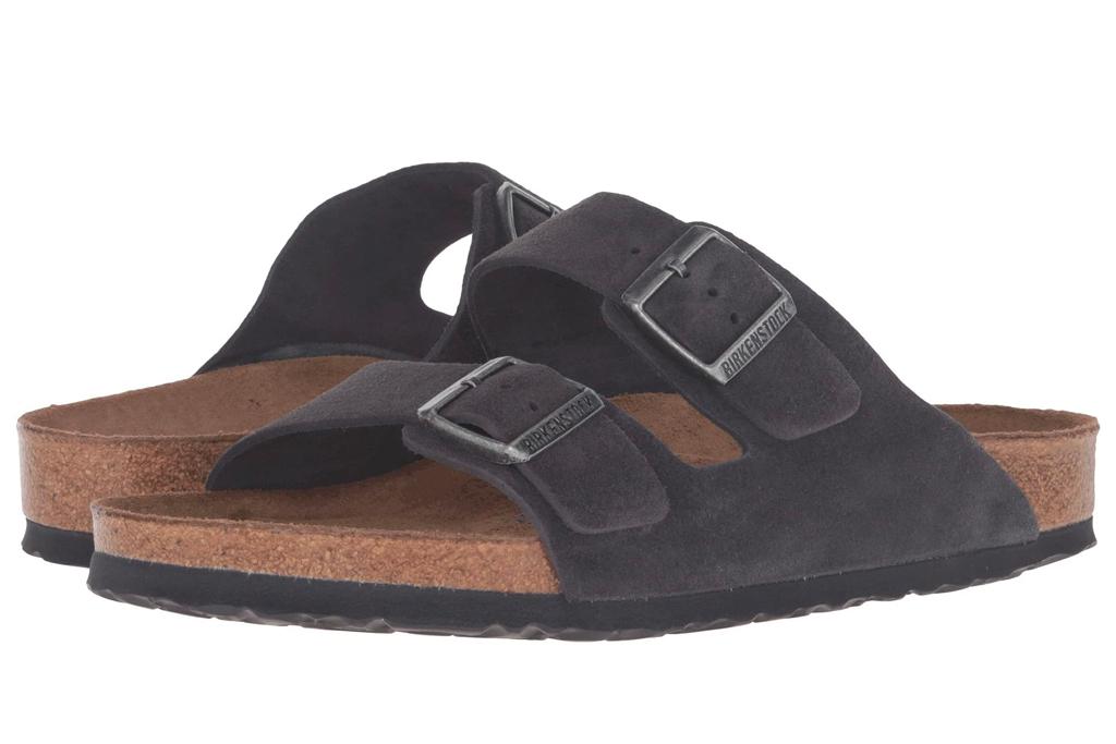 birkenstock, sandals, slides, arizona, tan
