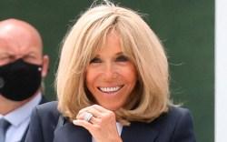 brigitte macron, french first lady, blazer,