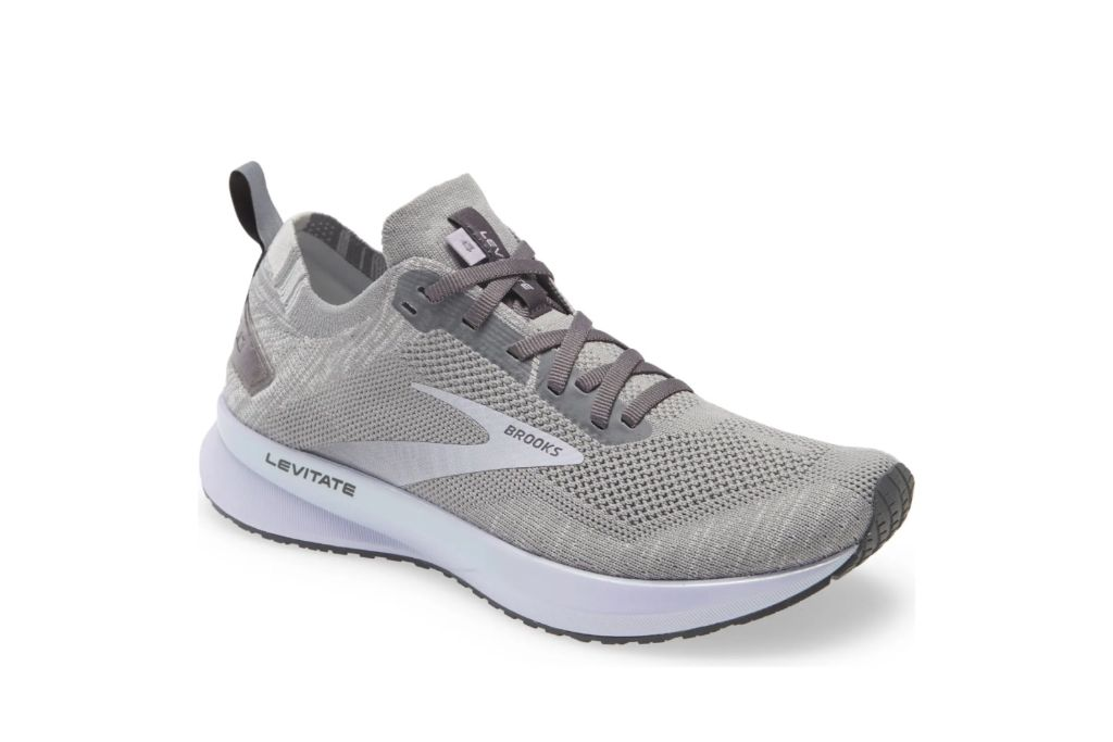 brooks, levitate 4 running shoe, gray sneakers