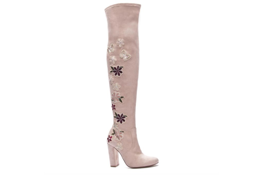 chinese laundry, briella over the knee boot, floral boots