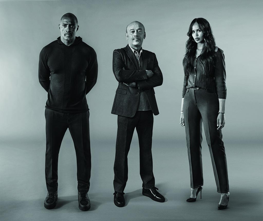 Christian Louboutin, Idris Elba, Sabrina Elba, collaboration