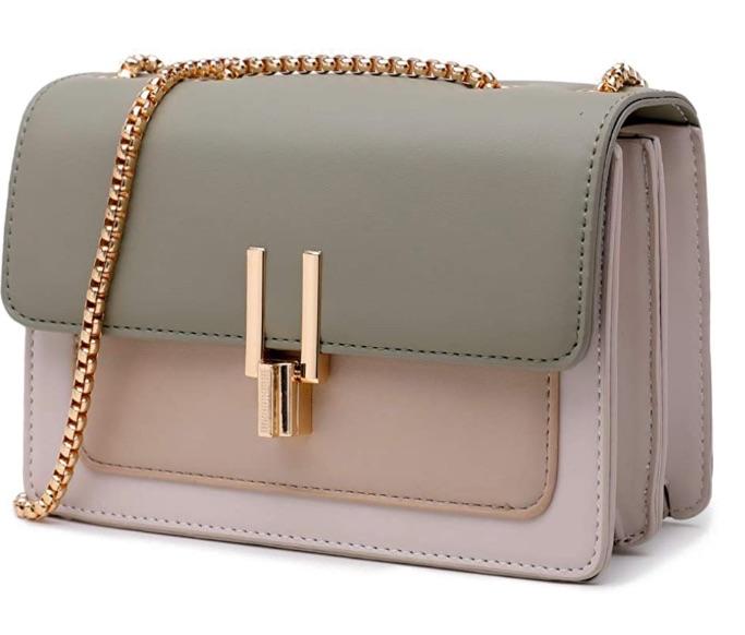 Color-Block Crossbody Bags for Women Leather Cross Body Purses Cute Designer Handbags Shoulder Bag Medium Size, best Amazon Prime Days handbag deals