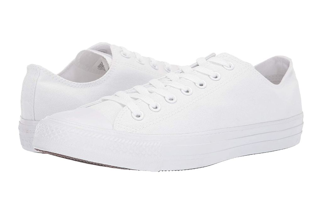 converse, chuck taylor all star core ox, white sneakers