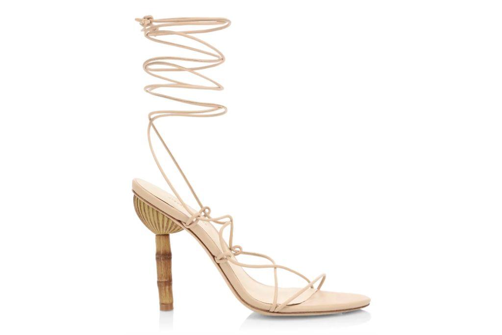 cult gaia, ankle wrap sandals, sandal heels