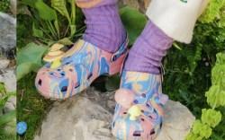 crocs, diplo, clogs, slides, sandals, tie-dye,
