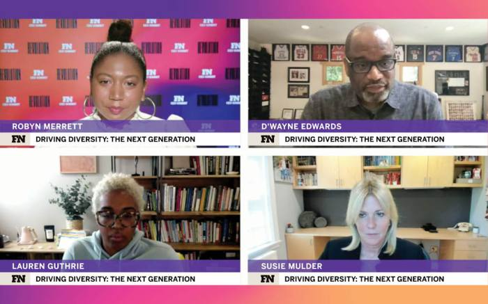 FN CEO Summit VF Corp Pensole Design Academy Timberland Robyn Merrett joined by D'Wayne Edwards Susie Mulder Lauren Guthrie