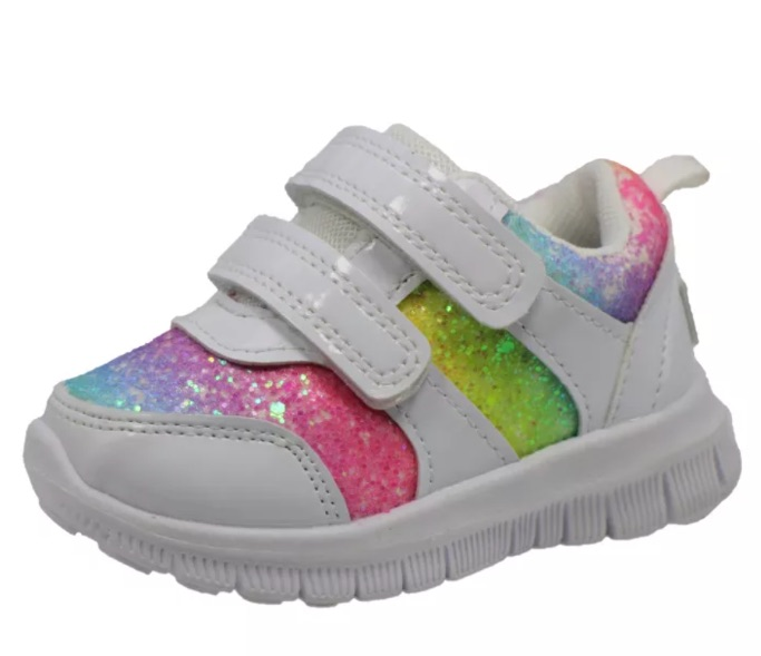 Gerber Chunky Glitter Sneakers, target shoes for baby girl