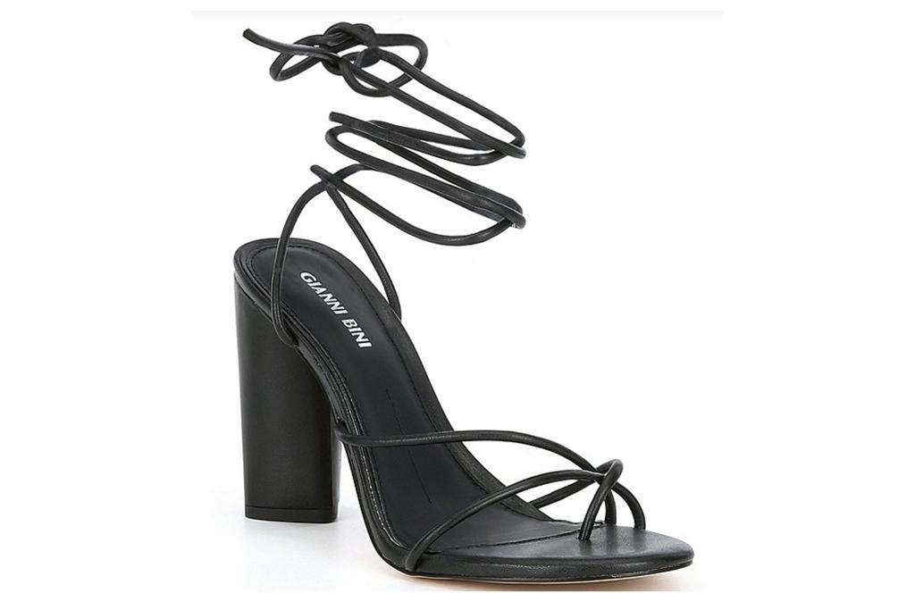 big toe sandals, black heels, gianni bini