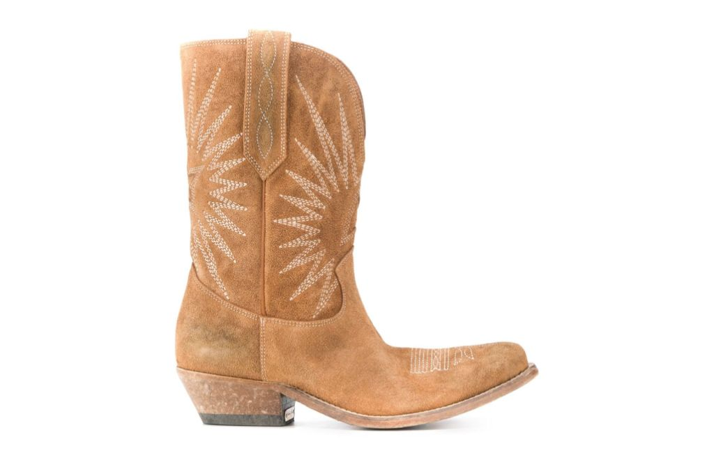 golden goose, cowboy boots, farfetch