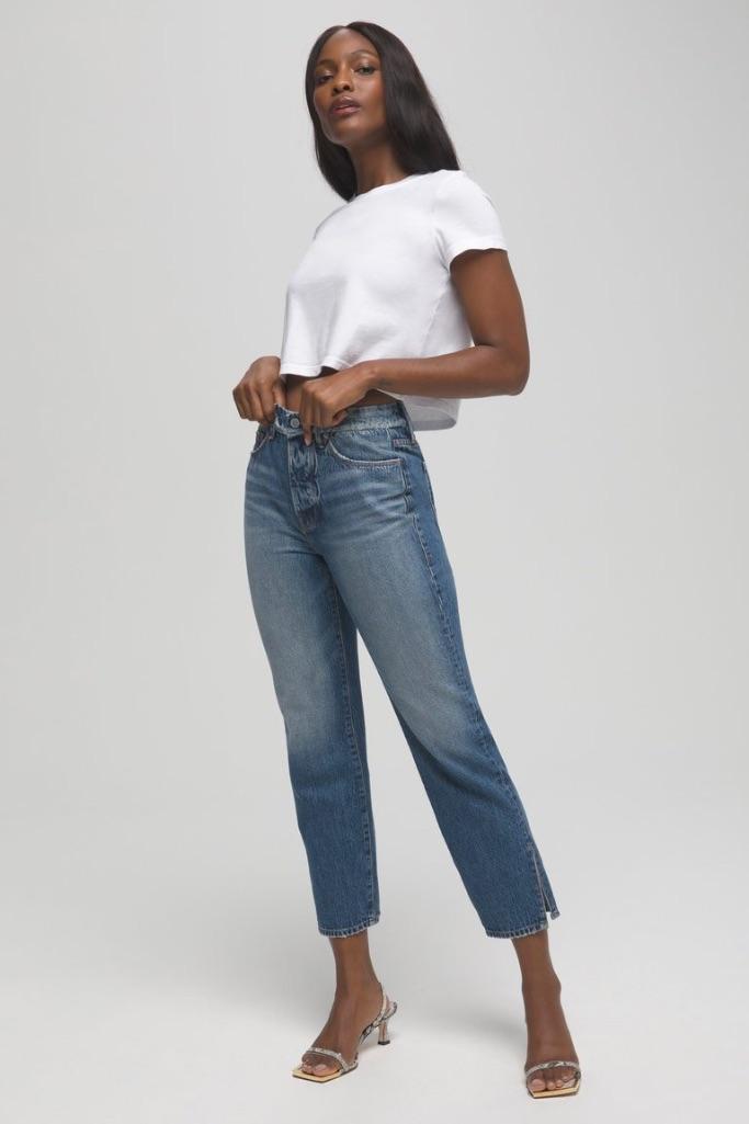 Good American Good Boy jeans, Good American sample sale