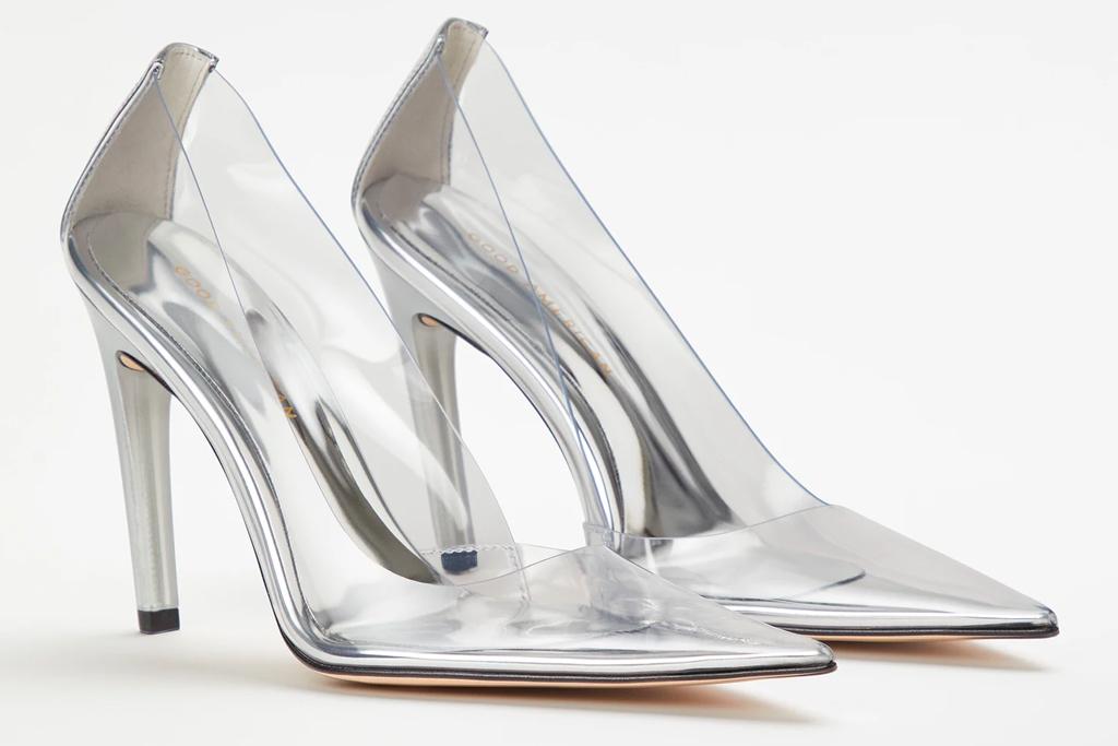good american, cinderella, clear heels, see-through heels